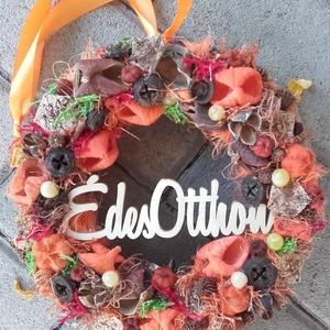 ÉDES OTTHON őszi-színes-tarka-termés  Kopogtató, Ajtódísz RENDELHETŐ, Otthon & Lakás, Ajtódísz & Kopogtató, Dekoráció, Virágkötés, Mindenmás, Meska