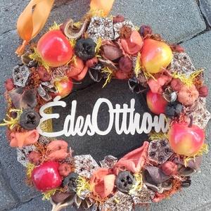 ÉDES OTTHON ŐSSZEL IS!  őszi-termés ajtódísz, kopogtató-KÉSZTERMÉK, Otthon & Lakás, Dekoráció, Ajtódísz & Kopogtató, Virágkötés, Mindenmás, Meska