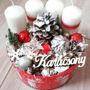 ADVENTRE VÁRVA  karácsonyi koszorú, asztaldísz, adventi box, doboz, dekoráció, Karácsony, Adventi díszek, Adventi asztaldísz, Mindenmás, Virágkötés, Meska