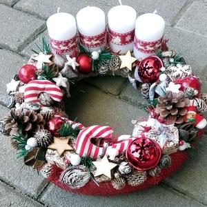CLASSIC CHRISTMAS karácsonyi ajtódísz, adventi kopogtató, karácsonyi dekoráció  - Meska.hu