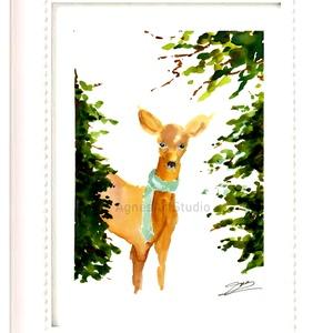 Őzike - aquarell festmény - nyomat (AgnesArtStudio) - Meska.hu