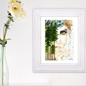 Lélegzet - aquarell festmény - nyomat, Otthon & lakás, Dekoráció, Képzőművészet, Napi festmény, kép, Illusztráció, Festészet, Fotó, grafika, rajz, illusztráció, A művészi nyomat 180-200g-os művész papírra készül.\nA festmény eredetije kézzel készített, handmade ..., Meska
