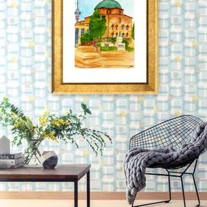 Pécs - aquarell festmény - nyomat, Otthon & lakás, Dekoráció, Képzőművészet, Festmény, Akvarell, Fotó, grafika, rajz, illusztráció, Festészet, A művészi nyomat 180-200g-os művész papírra készül.\nA festmény eredetije kézzel készített, handmade ..., Meska
