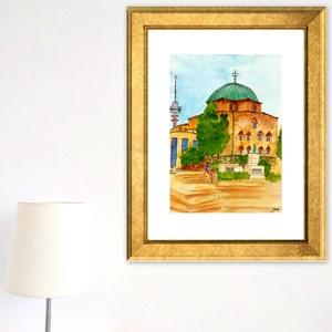Pécs - aquarell festmény - nyomat (AgnesArtStudio) - Meska.hu