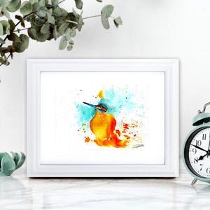 Madárka 1. - aquarell festmény - nyomat  , Otthon & lakás, Dekoráció, Képzőművészet, Festmény, Akvarell, Kép, Napi festmény, kép, Festészet, Fotó, grafika, rajz, illusztráció, A művészi nyomat 180-200g-os művész papírra készül.\nA festmény eredetije kézzel készített, handmade ..., Meska