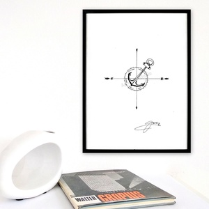 Idő-tér - InkArt illusztráció - egyedi tervezés, Otthon & lakás, Képzőművészet, Illusztráció, Dekoráció, Festészet, Fotó, grafika, rajz, illusztráció, A művészi nyomat 180-200g-os művész papírra készül.\nAz InkArt monokróm illusztráció kézzel készített..., Meska