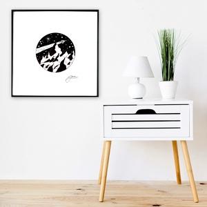 Utazás - InkArt illusztráció - egyedi tervezés, Otthon & lakás, Dekoráció, Képzőművészet, Illusztráció, Grafika, Fotó, grafika, rajz, illusztráció, Festészet, A művészi nyomat 180-200g-os művész papírra készül.\nAz InkArt monokróm illusztráció kézzel készített..., Meska