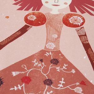 Gyerekszoba, babaszoba dekoráció kislányoknak - Királylány, királynő- A4 illusztráció, rózsaszín-piros változat (agnescor) - Meska.hu