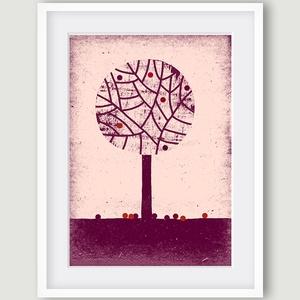 Babaszoba, gyerekszoba dekoráció falikép szett -3 kép -tavaszi, téli, nyári fa- A4 illusztráció (agnescor) - Meska.hu