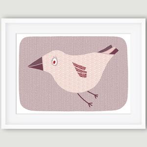 Vanda, a madár -  babaszoba, gyerekszoba dekoráció állatos falikép kép - madár - A4 illusztráció, Gyerek & játék, Gyerekszoba, Dekoráció, Otthon & lakás, Kép, Fotó, grafika, rajz, illusztráció, Újrahasznosított alapanyagból készült termékek, A madarat ábrázoló fali kép ideális dekoráció gyerek -és babaszoba falra, óvodákba. A saját rajzból ..., Meska