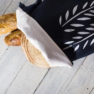 Kenyértartó zsák BÉLELT, NAGY, rusztikus lenvászon, pékáru tartó, frissentartó zsák, zero waste, környezetbarát (agnescor) - Meska.hu