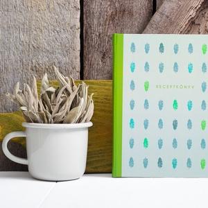 Receptkönyv, receptfüzet - egyedi tervezésű, illusztrált, kemény borítós könyv zsályalevelekkel lila, szürke színek, Otthon & lakás, Konyhafelszerelés, Receptfüzet, Fotó, grafika, rajz, illusztráció, Könyvkötés, Receptkönyv, receptfüzet - egyedi tervezésű, illusztrált, kemény borítós könyv zsályalevelekkel zöld..., Meska