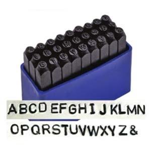 Betübeütő készlet 8 mm es, , Fémmegmunkálás, ötvösség, Angol abc nagybetűk 27 db \n\nLeírás\nAcélhoz, fémhez és fához használható. Praktikus műanyag dobozban...., Meska