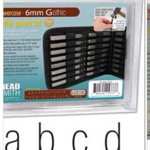 Kisbetű betűbeütő Gothic készlet 8 mm Beadsmith, , Fémmegmunkálás, ötvösség, Angol abc  27 db Gothic kisbetük tipus 8 mm-es kapható már csak!\n\nLeírás\nAcélhoz, fémhez és fához ha..., Meska