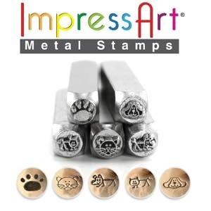 Metal design Stamping készlet, Gyöngy, ékszerkellék, Egyéb alkatrész, Ékszerkészítés, Szerszámok, Metal design Stamping készlet 5db/ szett 6MM STAMP  ImpressArt, Meska