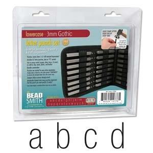Metal stamping beütő készlet kisbetű Beadsmith, Szerszámok, eszközök, Fémmegmunkálás, ötvösség, Angol abc  27 db Gothic kisbetük tipus 3 mm-es\n\nLeírás\nAcélhoz, fémhez és fához használható. Praktik..., Meska