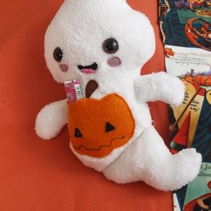 Plüss szellem figura 2, Játék & Gyerek, Szörnyike, Plüssállat & Játékfigura, BOO! Meg ne ijedj! Ez a cuki kis szellem egyáltalán nem ijesztő, sőt, még hasznunkra is lehet, mert ..., Meska