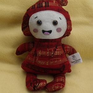 textil manó, törpike, Dekoráció, Játék, Plüssállat, rongyjáték, Baba-és bábkészítés, Varrás,