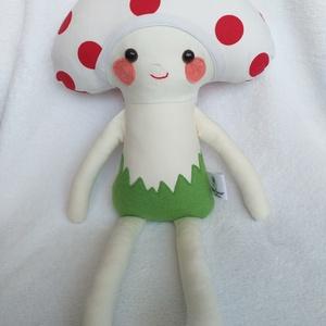Gomba baba textilből, Játék & Gyerek, Más figura, Plüssállat & Játékfigura, Kicsik és nagyok kedvence lehet ez az aranyos, ölelnivaló gomba baba figura. 43 cm magas gomba baba,..., Meska