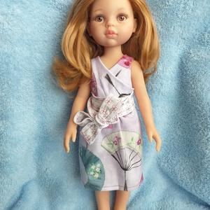Átlapolós ruha Paola Reina babára, Játék & Gyerek, Öltöztethető baba, Baba & babaház, Átlapolós ruhát készítettem, 32 cm magas Paola Reina (Las Amigas) babára tervezve.  Egyszerűen felad..., Meska
