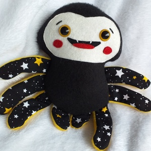 Mókás pókocska, pókica textilből, Játék & Gyerek, Más figura, Plüssállat & Játékfigura, Ez vidám arcú pókocska csak arra vár, hogy jókedvre derítsen mindenkit! Akár pókkedvelők vagyunk, ak..., Meska