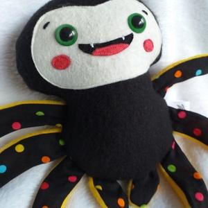 Mókás pókocska textilből (pöttyös lábú) - Meska.hu