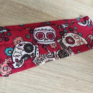Sugar skull mintás maszk Halloweenre, Maszk, Arcmaszk, Ha már viselnünk kell, miért ne tennénk vidám mintákkal? Az önkifejezésünk része lehet a színes, vag..., Meska