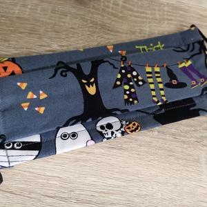 Halloween mintás maszk gyerekeknek , Maszk, Arcmaszk, Gyerek, Varrás, Ha már viselnünk kell, miért ne tennénk vidám mintákkal? Az önkifejezésünk része lehet a színes, vag..., Meska