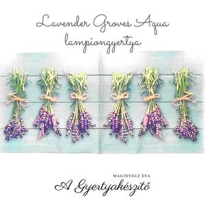 Lavender Groves Aqua lampiongyertya, Otthon & Lakás, Dekoráció, Gyertya & Gyertyatartó, Gyertya-, mécseskészítés, A lampiongyertyáról\n\nGyertya mindamellett hogy csodás dísz, varázslatos fényt is ad a környezetének...., Meska