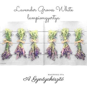 Lavender Groves White lampiongyertya, Otthon & Lakás, Dekoráció, Gyertya & Gyertyatartó, Gyertya-, mécseskészítés, A lampiongyertyáról\n\nGyertya mindamellett hogy csodás dísz, varázslatos fényt is ad a környezetének...., Meska