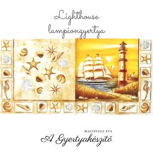 Lighthouse lampiongyertya, Otthon & Lakás, Dekoráció, Gyertya & Gyertyatartó, Gyertya-, mécseskészítés, A lampiongyertyáról\n\nGyertya mindamellett hogy csodás dísz, varázslatos fényt is ad a környezetének...., Meska