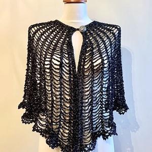 """""""BlackMagic"""", Ruha & Divat, Női ruha, Bolero, Ezüst lurex szállal kombinált fekete színű fonalból horgolt, kifejezetten esti és alkalmi/ünnepi vis..., Meska"""