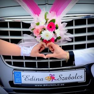 Esküvői rendszámtáblák készítése, Esküvő, Dekoráció, Tábla & Jelzés, Különleges ajándék is lehet, ez az egyedi készítésű esküvői rendszámtábla, hiszen a jeles eseményt k..., Meska