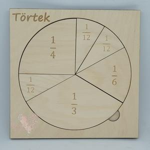 """""""Törtek egyszerűen"""" tábla, Játék & Gyerek, Készségfejlesztő & Logikai játék, Famegmunkálás, Gravírozás, pirográfia, Interaktív és játékos módon tudjuk megtanítani gyerekeinknek a törtek rendszerét ezzel a """"Törtek egy..., Meska"""