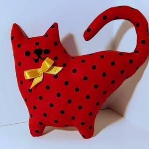 textil dagi cica, Gyerek & játék, Játék, Plüssállat, rongyjáték, Varrás, 18 cm-es mosható textil cica, több színben , Meska