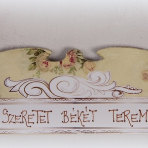 Rózsás táblácska  (ajulia) - Meska.hu