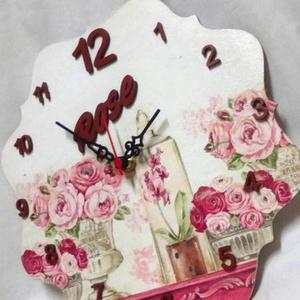 Vintage rózsás falióra (aKataArt) - Meska.hu