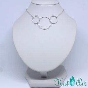 Háromkarika ezüst lánc, Ékszer, Medálos nyaklánc, Nyaklánc, Ékszerkészítés, Ötvös, Meska