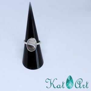 Botswana achát ezüst gyűrű, Ékszer, Szoliter gyűrű, Gyűrű, Ötvös, Ékszerkészítés, Meska
