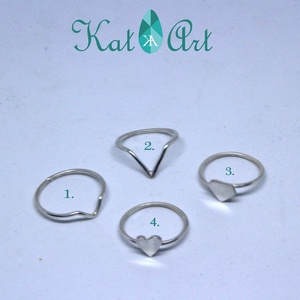 Vékony ezüst gyűrű - stacking ring - Meska.hu
