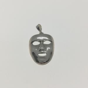 Maszk medál, Ékszer, Nyaklánc, Medál, Ékszerkészítés, Ötvös, 925 Sterling ezüst maszk formájú medál., Meska