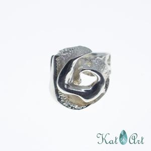 Ezüst gyűrű, Ékszer, Gyűrű, Ékszerkészítés, Ötvös, Göngyölt\nMérete 59-es.\n\n, Meska