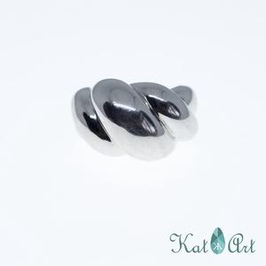 Ezüst gyűrű, Ékszer, Gyűrű, Ékszerkészítés, Ötvös, Hullámzó\nMérete 59-es.\n\n, Meska