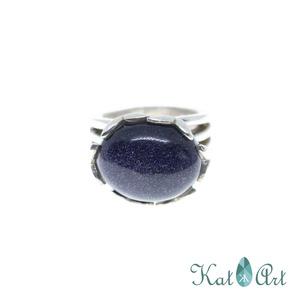 Ezüst gyűrű, Ékszer, Gyűrű, Ékszerkészítés, Ötvös, Holdkő\nMérete 60-as.\n\n, Meska
