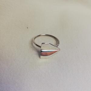 Papírrepülő gyűrű, Ékszer, Gyűrű, Figurális gyűrű, Ékszerkészítés, Ötvös, Meska