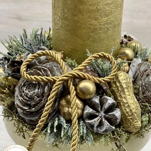Egy gyertyás adventi - téli/karácsonyi dekoráció, asztaldísz (AKezmuvescsodak) - Meska.hu