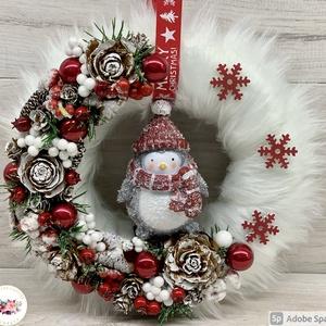Táncoló talpak kopogtató - ajtódísz, kopogtató, dekoráció, Karácsony & Mikulás, Karácsonyi kopogtató, Virágkötés, Egyedi, kézzel készített ajtódísz termésekkel, műszőrmével, karácsonyi gömböcskékkel, fenyővel és cu..., Meska