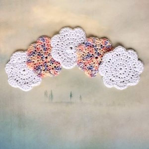 Horgolt színátmenetes pasztell rózsaszín / lila és fehér arctísztitó párna - ÖKO zéró hulladék - Kisherceg design, Szépségápolás, Arcápolás, Szemkörnyékápolás, Kötés, Horgolás, Fehér, és színátmenetes pasztell rózsaszín / lila pamut fonalból horgoltam ezeket a virág alakú arct..., Meska