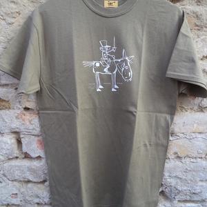 """Huszár-kekizöld rövid ujjú fiúpóló, Férfiaknak, Urban pólók, Táska, Divat & Szépség, Férfi ruha, Ruha, divat, Varrás, Ez az \""""M\"""" méretű rövid ujjú fiúpóló kekizöld 100% pamut anyagból készült, az elején saját, egyedi ma..., Meska"""