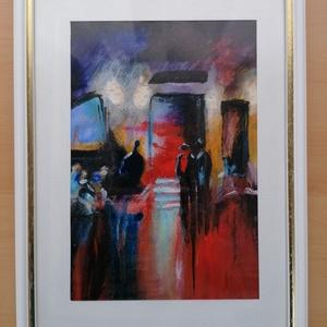 A zongorista, Otthon & lakás, Képzőművészet, Festmény, Akvarell, Lakberendezés, Falikép, Festészet, Az akvarellt a dzsessz hangulata ihlette. Mérete kerettel 23×32 cm. A kép mérete 15×22 cm. Fehér és ..., Meska